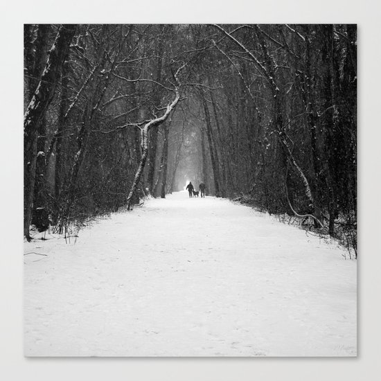 Snow White Morning Canvas Print