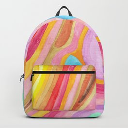 Rainbow lines abstract Backpack