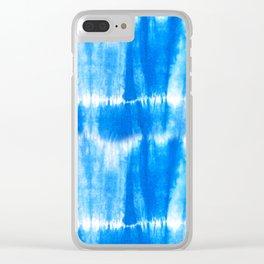Tie Dye in Blue Clear iPhone Case