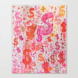 Barbie Money Canvas Print