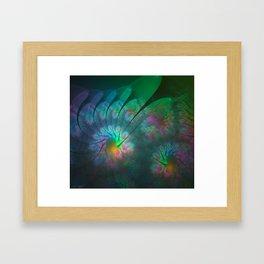 Dusk Flowers Framed Art Print