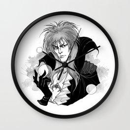 Inktober Goblin King Wall Clock