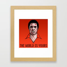 The World Is Yours Framed Art Print