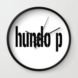 Hundo p Wall Clock
