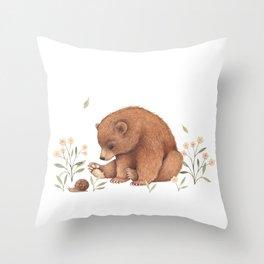 Spring Bear Throw Pillow