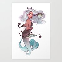 gemini Art Prints featuring Gemini by Laia™