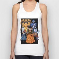 power rangers Tank Tops featuring Villains in Mighty Morphin Power Rangers by Bowserina