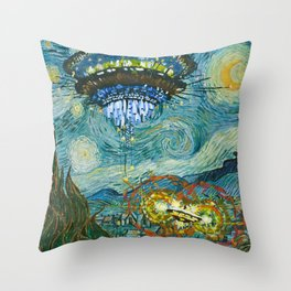 Starry Encounters Throw Pillow