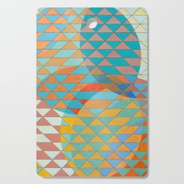 Triangle Pattern No. 11 Circles Cutting Board
