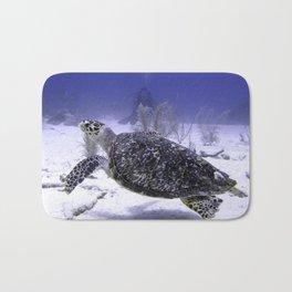 Swimming Hawksbill Turtle Bath Mat