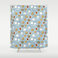 cookies Shower Curtains featuring Cookies & Milk by S. Vaeth