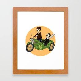 Motorcycle Ride Framed Art Print