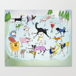 Dogs on Ice! Canvas Print