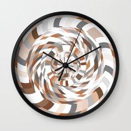 Brown Circles Art Action Wall Clock