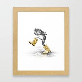 Puddle Jumping Framed Art Print