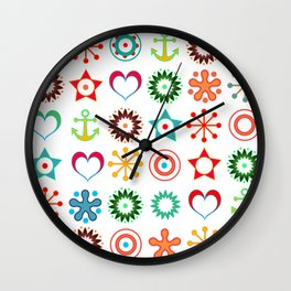 Marine abstract ornament 2 Wall Clock