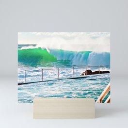Bronte Beach Ocean Pool. Sydney. Australia. Mini Art Print