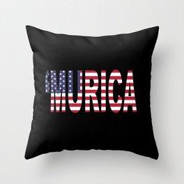 'Murica Throw Pillow