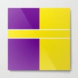 Team Colors 6....Yellow,purple Metal Print
