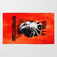 che Area & Throw Rugs featuring CHE-HUGGER by BeastWreck