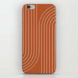 Minimal Line Curvature - Coral Red iPhone Skin