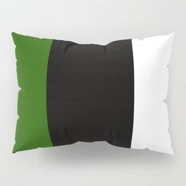 Team Colors 7...green ,black,white Pillow Sham
