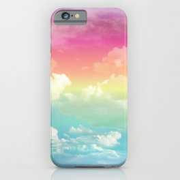 Clouds in a Rainbow Unicorn Sky iPhone Case