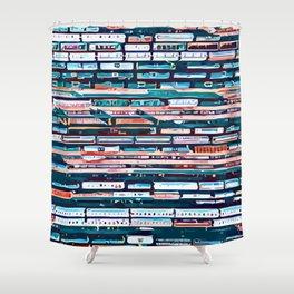 Cool patterns ~ Train Jam Shower Curtain