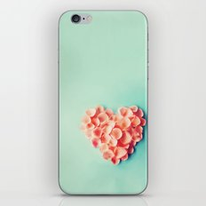FLOWERS HEART iPhone & iPod Skin