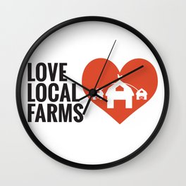Love Local Farms Wall Clock