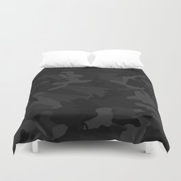 Camo Black Duvet Cover