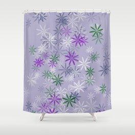Lavander glow flower power Shower Curtain