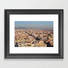A View of Barcelona Framed Art Print