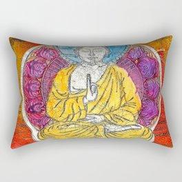 Yellow Buddha Rectangular Pillow