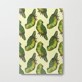 parrot bird pattern Metal Print