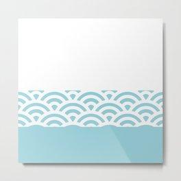 Rainbow Trim Pastel Blue Metal Print