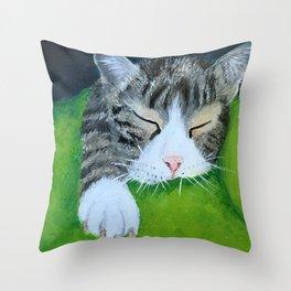 Cat Nap (Lucia) Throw Pillow