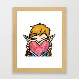 Link Love Framed Art Print