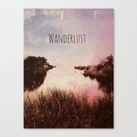 wanderlust Canvas Prints featuring Wanderlust by Brianne Lanigan