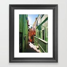 Guanajuato sidestreets Framed Art Print