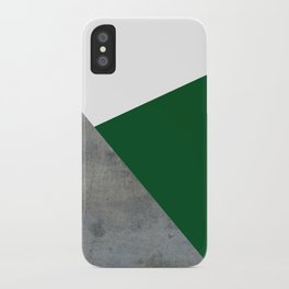 Concrete Festive Green White iPhone Case