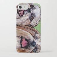 shih tzu iPhone & iPod Cases featuring Shih Tzu Dog Art by WOOF Factory