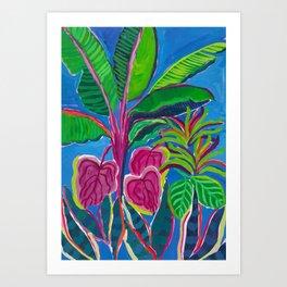 Banana Plant Print Art Print