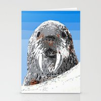 walrus Stationery Cards featuring Walrus by wingnang