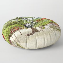 Heian shinto shrine, Kyoto, Japan Floor Pillow