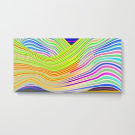 Play with stripes  13 Metal Print