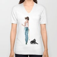 play V-neck T-shirts featuring play by tatiana-teni