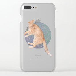 Cat Lounging Clear iPhone Case