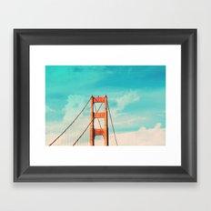 Retro Golden Gate - San Francisco, California Framed Art Print