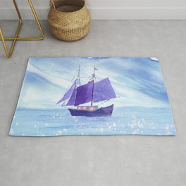 Sailing in Winter Rug